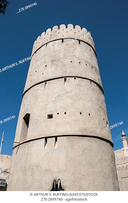 Tower, Nizwa Fort, Nizwa, Ad Dakhiliyah Governorate, Oman