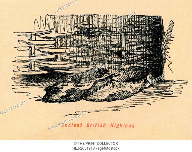 'Ancient British Highlows', c1860, (c1860). From The Comic History of England, Volume I, by Gilbert A A'Beckett. [Bradbury, Agnew, & Co., London]