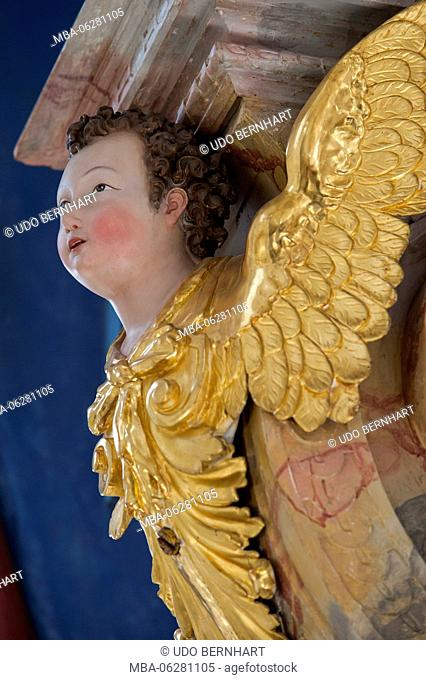 Austria, Tyrol, Stams, Abbey Stams, Cistercian cloister, collegiate church, baroque choral organ