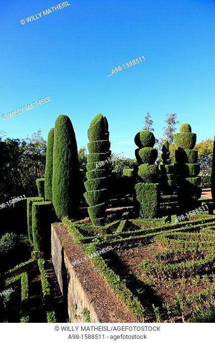 Topiary garden, Botanical Gardens, Funchal, Portugal, Europe