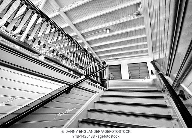 Interior Stairwell of the Steam Ferry Berkeley at the San Diego Maritime Museum