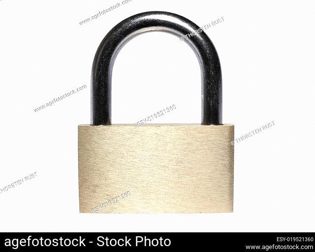 Closed Brass Padlock