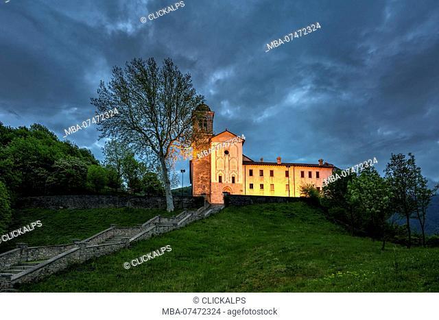 Anzù, Feltre, province of Belluno, Veneto, Italy, Europe, Sanctuary of the Saints Vittore and Corona