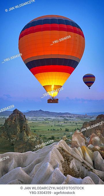 Hot air balloons, Goreme, Cappadocia, Turkey