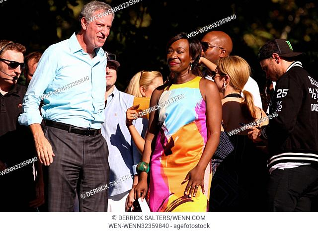 2017 Global Citizen Festival, Central Park in New York City, New York. Featuring: Bill de Blasio Joy-Ann Reid Where: New York City, New York
