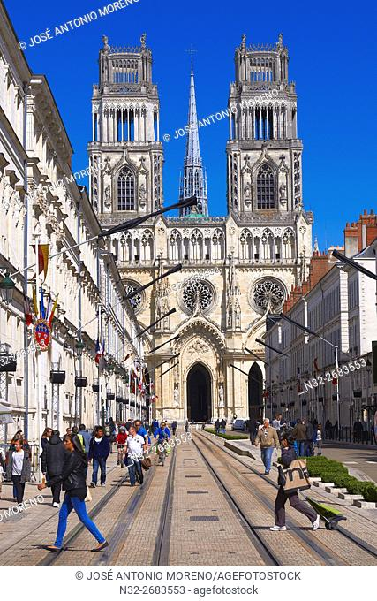 Orleans, Ste. Croix Cathedral, Orleans, Jeanne d'Arc street, Loire Valley, UNESCO World Heritage Site, Loiret department, Centre region, France, Europe