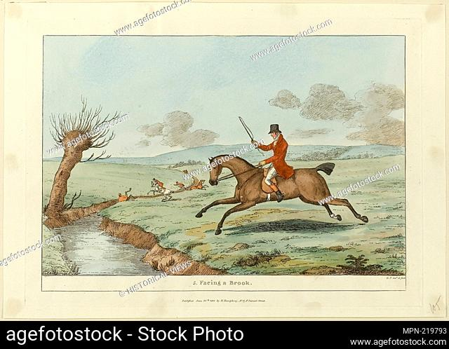 Facing a Brook, plate five from Indispensable Accomplishments - published June 24, 1811 - Sir Robert Frankland (English, 1784-1849) published by Hannah Humphrey...