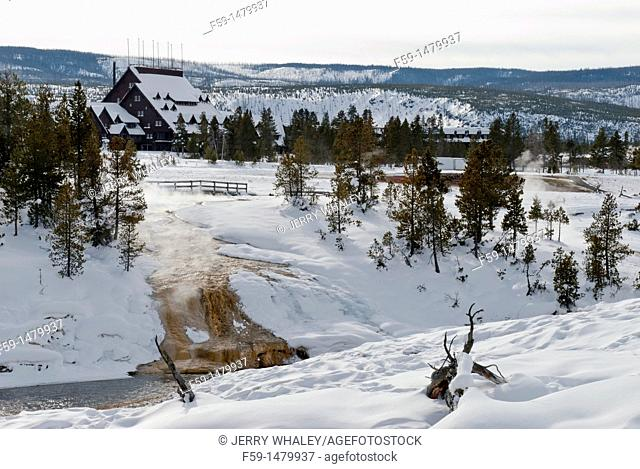 Firehole River, Winter, Upper Geyser Basin, Yellowstone NP, WY