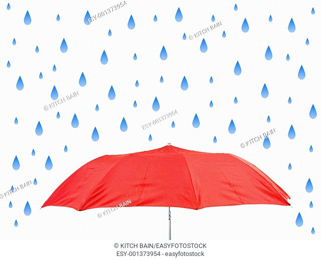 An umbrella isolated against a white background