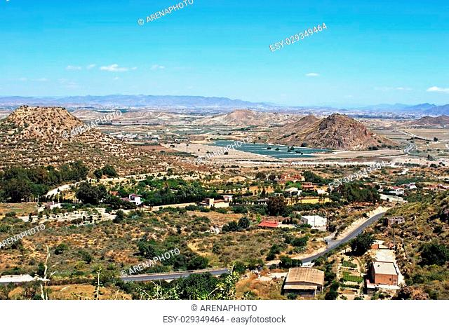 Agricultural land in the mountains near Mojacar, Mojacar Pueblo, Almeria Province, Andalusia, Spain, Western Europe