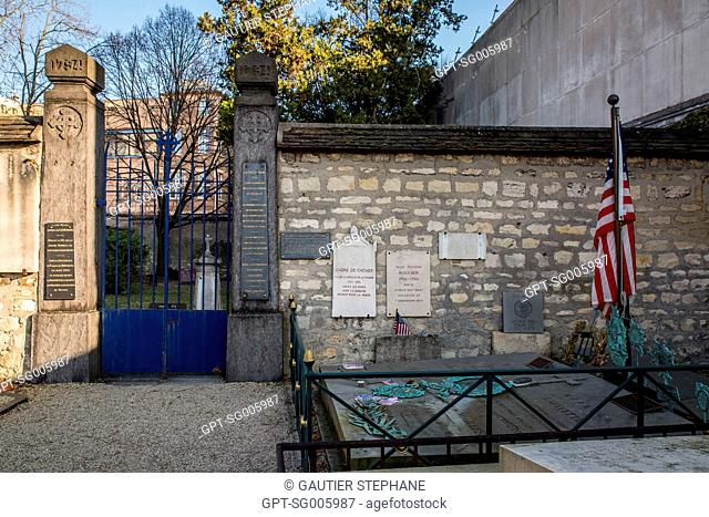 PICPUS CEMETERY, PARIS (75), 12TH ARRONDISSEMENT, CREATED DURING THE REVOLUTION'S TURMOIL, THE PICPUS CEMETERY IS THE ONLY PRIVATE CEMETERY IN PARIS THAT IS...