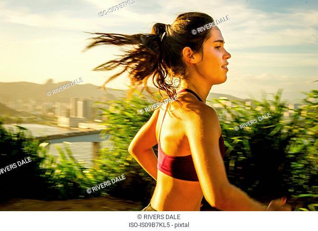 Runner training, Rio de Janeiro, Brazil