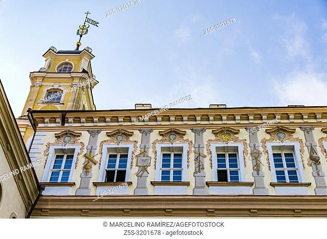 The Library Courtyard of Vilnius University. Vilnius, Vilnius County, Lithuania, Baltic states, Europe