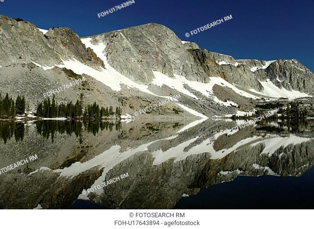 Medicine Bow National Forest, WY, Wyoming, Snowy Range Scenic Byway, Alpine Lake, Lake Marie