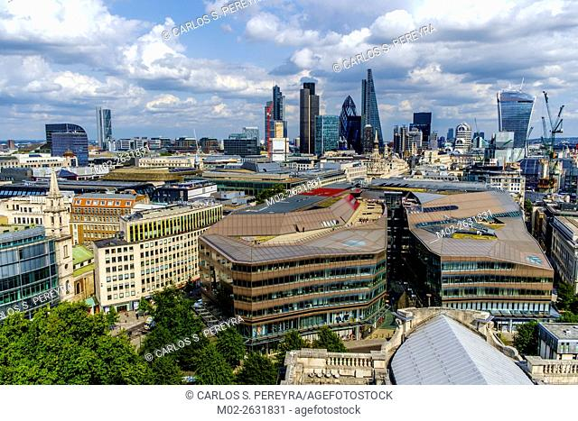 View of London from St. Pauls Cathedral, England, United Kingdom