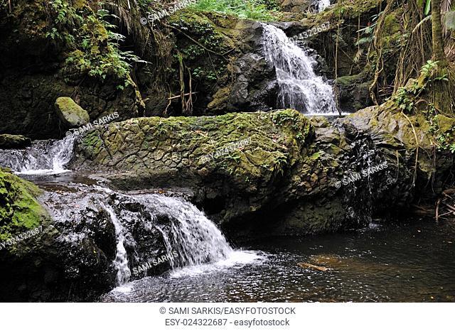 Waterfalls in nature, Big Island, Hawaii Islands, Usa