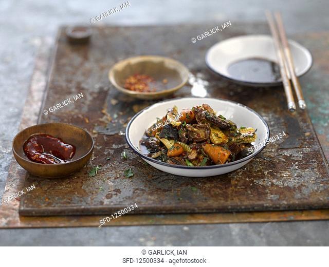 Stir fried mushrooms (Asia)