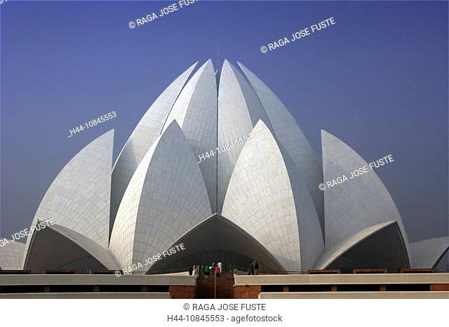 India, New Delhi city, Lotus temple, Bahai Temple, Asia, travel, January 2008, religion, modern, architecture, buildin