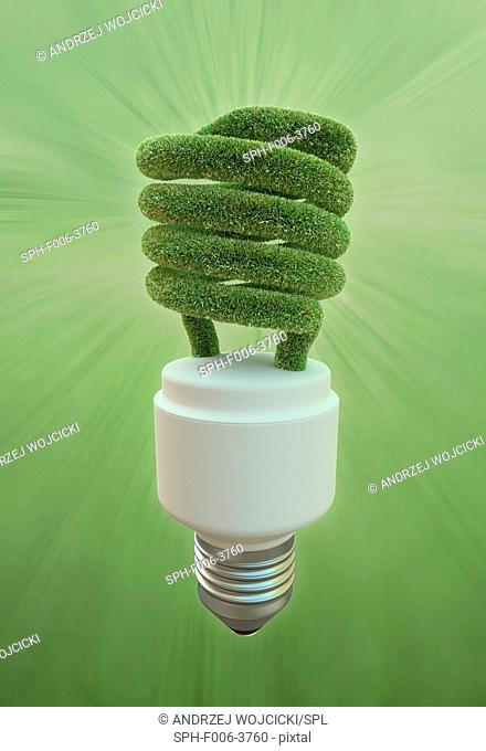 Green energy, conceptual computer artwork
