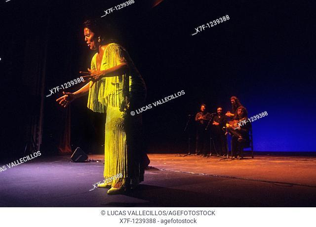 Aurora Vargas Flamenco singer and dancer  Lope de Vega theatre  Seville, Andalusia, Spain