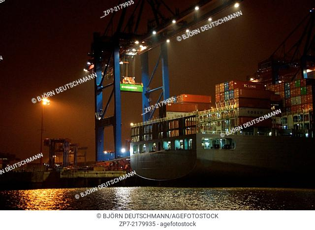 The Container terminal in Hamburg