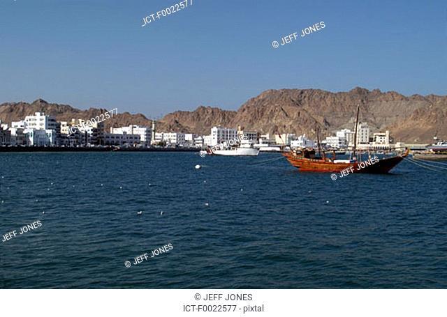 Oman, Muscat, Mutrah area, the corniche