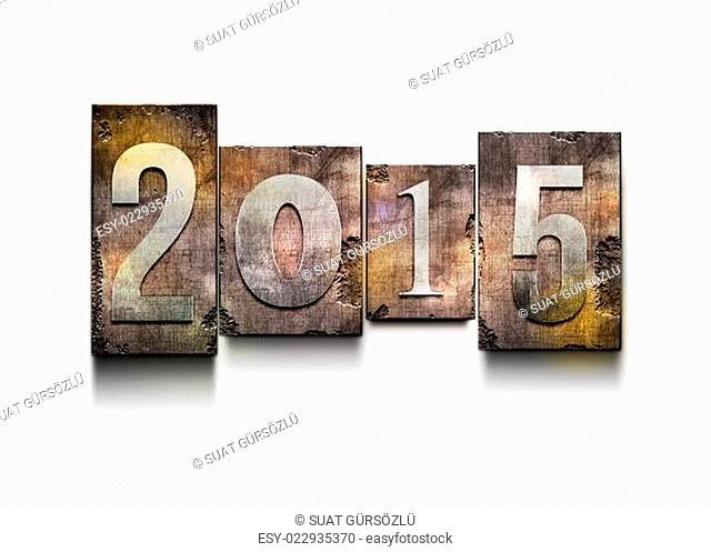 Year 2015 letterpress
