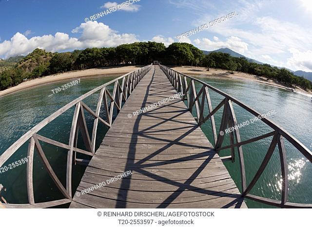 Pier of Komodo Island, Komodo National Park, Indonesia