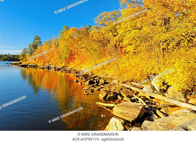 Lake of the Woods in autumn Nestor Falls Ontario Canada