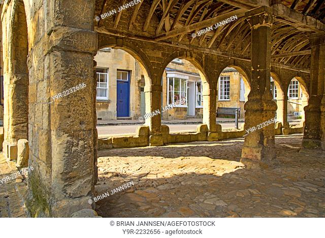 Stone Market Hall - built 1627, in Chipping Campden, Gloucester, England