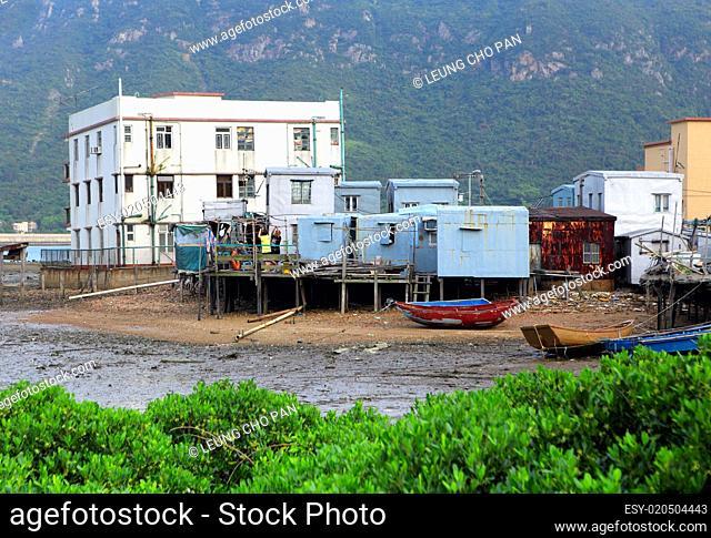 Tai O fishing village with stilt house in Hong Kong