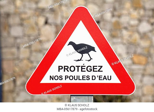 Sign for protection of animals