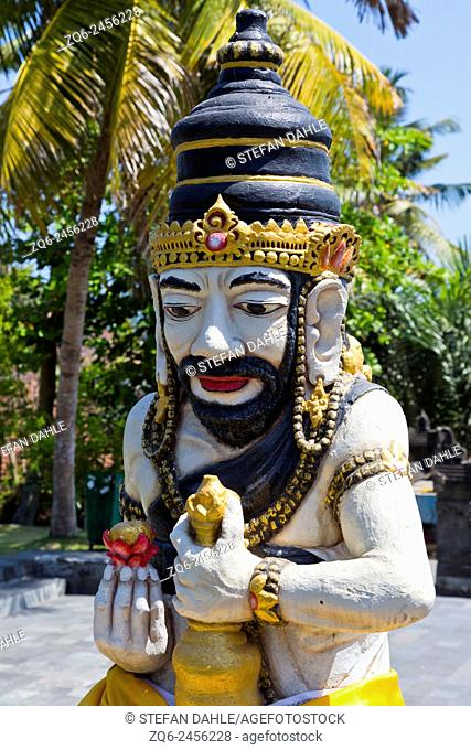 Statue at the Entrance to the Temple Pura Tanah Lot, Bali, Indonesia