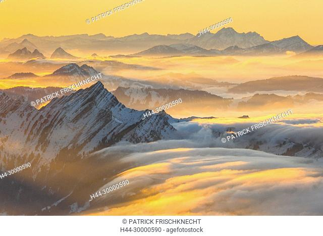 Speer, Pilatus, Rigi, Schweizer Alpen, Schweiz