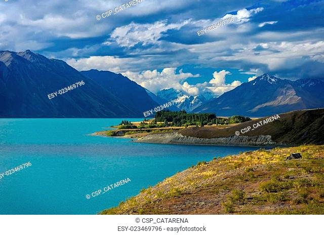 Beautiful background from The Lake Tekapo