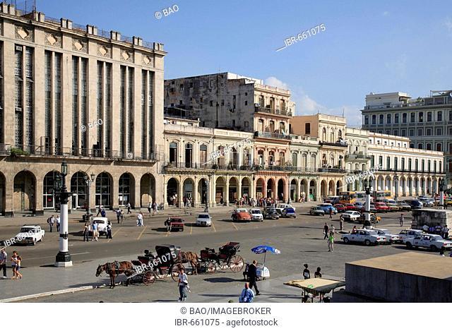 Parque Central, Paseo de Marti Boulevard, El Capitolio square, Havana, Cuba, Caribbean