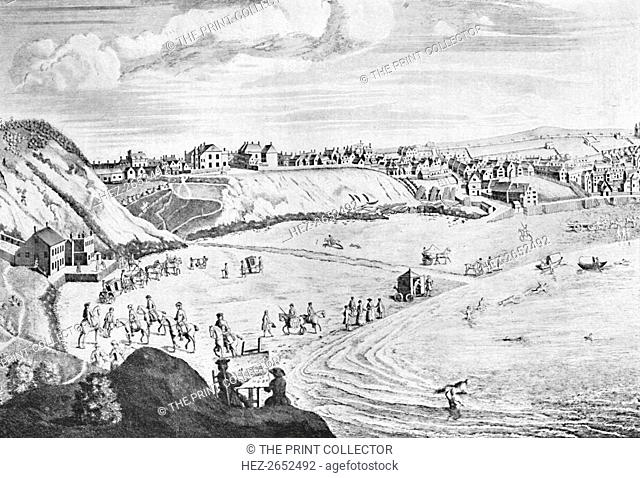 'Scarborough Sands in 1735', c1735, (1904). From Social England, Volume V, edited by H.D. Traill, D.C.L. and J. S. Mann, M.A