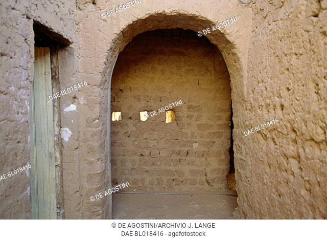 Mud brick building in Adrar, Algeria