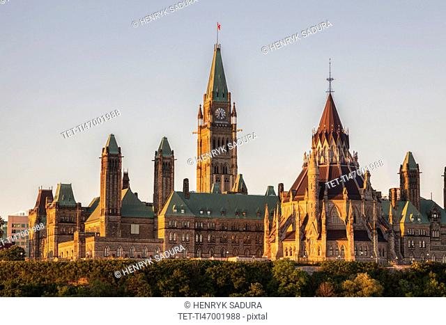 Canada, Ontario, Ottawa, Parliament Hill against sky
