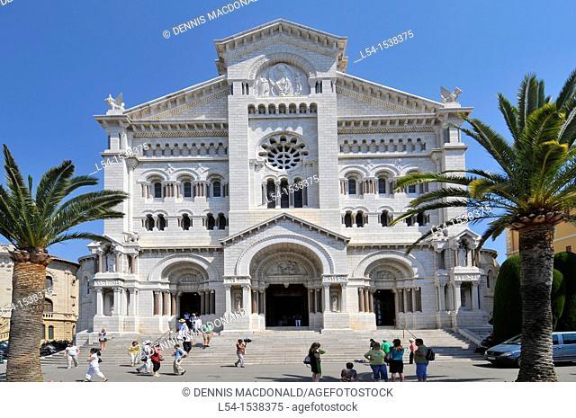 St  Nicholas Monte Carlo Cathedral Monaco Principality French Riviera Mediterranean Cote d'Azur Alps
