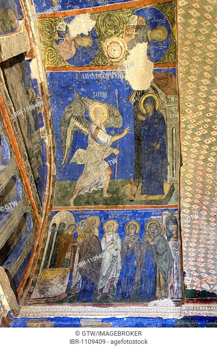 Goereme National Park, UNESCO World Heritage Site, Tokali Kilise or Buckle Church, Wall paintings, Goereme, Cappadocia, Turkey