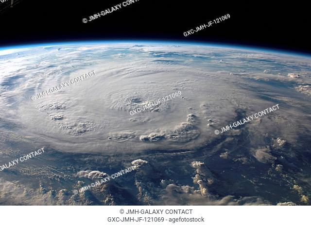 This view of Hurricane Felix was taken from the Earth-orbiting International Space Station (ISS) by an Expedition 15 crewmember using a digital still camera...