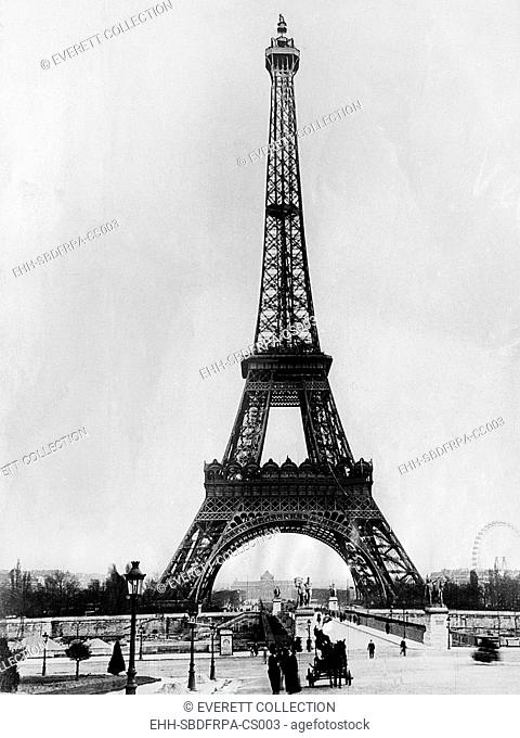 Eiffel Tower, Paris France. ca. 1928.Courtesy: CSU Archives/Everett Collection