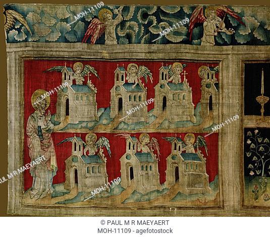 La Tenture de l'Apocalypse d'Angers, Les sept Eglises 1,58 x 2,19m, Sieben Kirchen