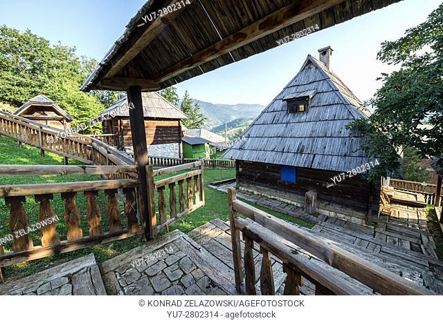 Guest house at Jean Vigo Street in Drvengrad village also called Kustendorf built by Emir Kusturica in Zlatibor District, Serbia