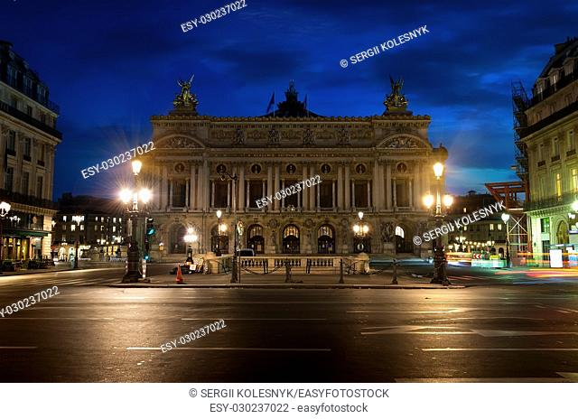 Opera National de Paris in the early morning, France