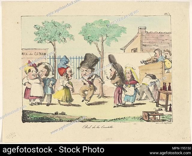 Bal de la courtille. Engelmann, G. (Godefroy), 1788-1839 (Lithographer). Prints depicting dance Subjects. Date Issued: 1830 - 1839 (Questionable) Place: Paris
