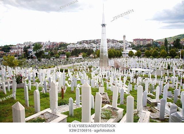 cemetery of kosevo, dedicated to the martyrs of the war 1992-1995, sarajevo, bosnia and herzegovina, europe