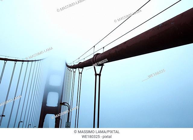 Golden Gate in a foggy day, San Francisco California