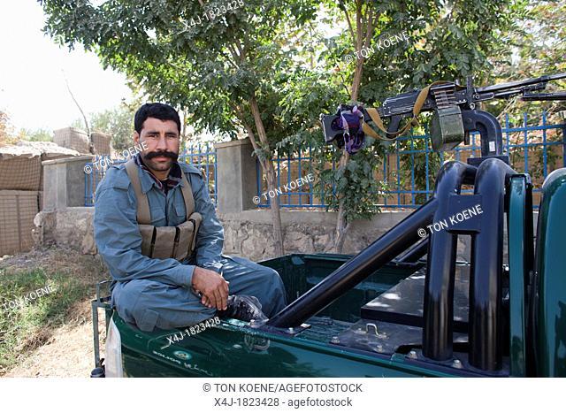 Afghan National Police ANP in kunduz, Afghanistan